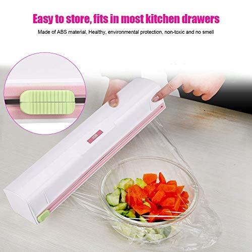 Fdit Cortadoras Plástico de Cocina Embalaje Cortador de Papel Cortador de Películas Soporte de Almacenamiento de Plástico