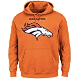 Denver Broncos Majestic NFL Critical Victory 2 Men's Hooded Orange Sweatshirt