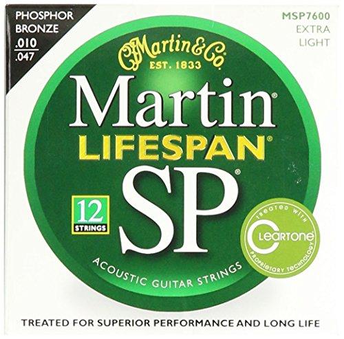 Martin SP Lifespan - Corde per chitarra, tensione: Extra Light, 92/8, al bronzo fosforo, 12 pezzi - 92/8 Phosphor Bronze Strings