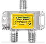 TechniSat 2-Wege Sat-Verteiler (2x DC-Durchlass, Diodenentkoppelt)