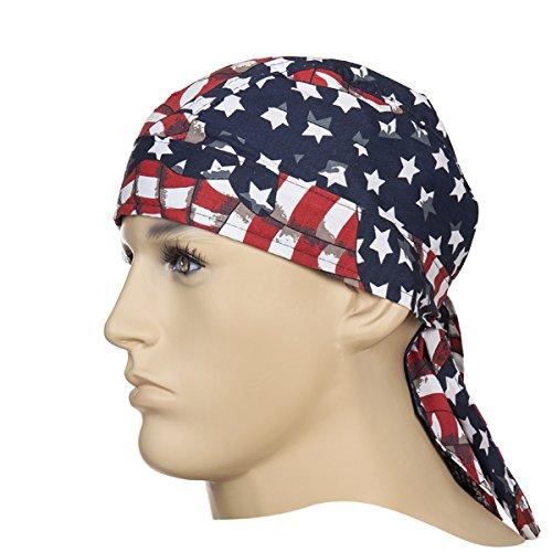 Weldas Kopfbedeckung Doo-Rag (Bandana) aus Baumwolle, USA-Flagge - Design