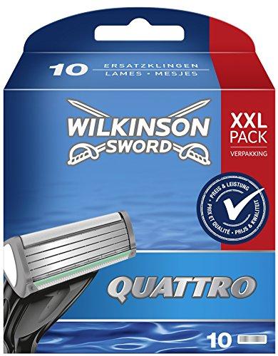 Wilkinson Sword Quattro Rasierklingen für Herren Rasierer, 10 St -