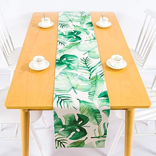 Nordischen Regenwald Wind Grün Tischdecke Aus Baumwolle Und Leinen Western Tabelle Flag Tv-Schrank Tisch Tischdecke Tischdecke Moderne Tuch, 30 X 200 cm ()