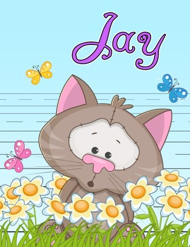 Jay: Personalized Book with Child's Name, Primary Writing Tablet for Kids, 65 Sheets of Practice Paper, 1