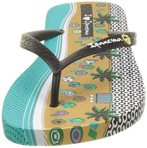 Ipanema I Love Tribal Fem, Tongs Femme Beige (Beige/Black)