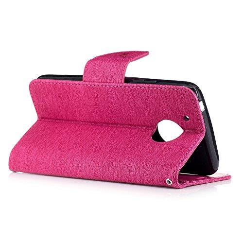 Coque iPhone 6 Plus,Flip Case iPhone 6 Plus Wallet Case Premium PU Protective Leather Case for iPhone 6 Plus Cover -Rouge Rouge