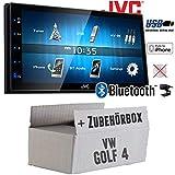 VW Golf 4 IV - Autoradio Radio JVC KW-M24BT - 2-DIN Bluetooth MP3 USB Autoradio TFT Touch - Einbauzubehör - Einbauset