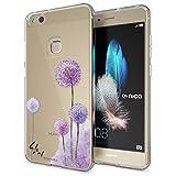 NALIA Handyhülle kompatibel mit Huawei P10 Lite, Motiv Design Slim Silikon Case Cover, Crystal Schutzhülle Handy-Tasche Dünn,