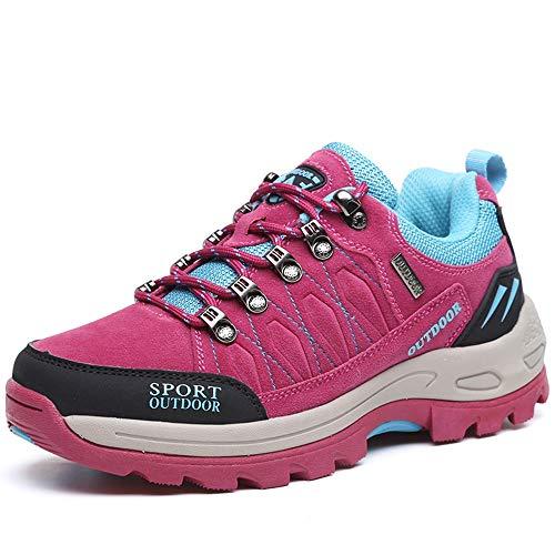 Unisex Damen Laufschuhe Fitness Sneaker Sport Turnschuhe (Hot Rosa,39)