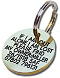 Deeply engraved solid brass 27mm circular pet tag