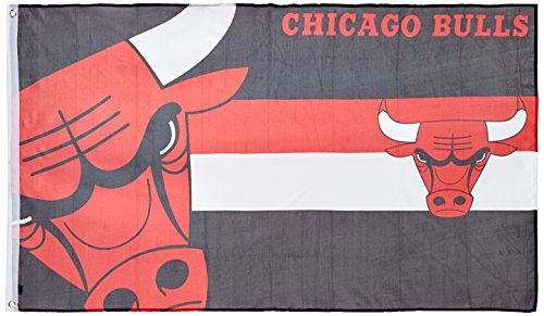 Forever Collectibles Flagge Chicago Bulls, Mehrfarbig, FLG53UKNBHORCBL