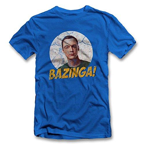 Bazinga 02 Vintage T-Shirt S-XXL 12 Farben / Colours Royal Blau