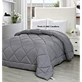 AMZ Ultra Soft Reversible Grey Color Microfiber Ac Comforter/Quilt / Duvet 250 GSM (Single Bed (60 X 90 Inches), Grey)