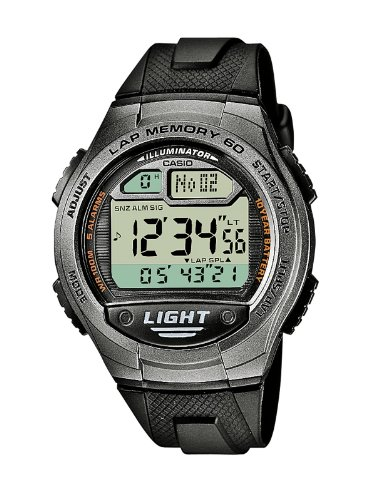 Casio Collection W-734-1AVEF, Reloj Digital Redondo, Unisex, Gris