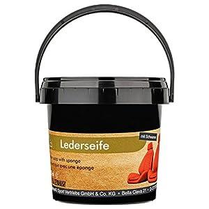 Equi-Deluxe Lederseife mit Schwamm für die Pflege von Autositzen, Taschen und weiteres Glattleder | Optimale Lederpflege…