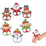 "Christmas Cardboard Finger Puppets ~ 12 Puppets ~ 2.5"" To 3.5"" ~ New"