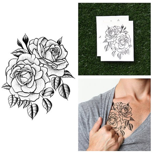 tattify-traditional-flower-temporary-tattoo-twin-rose-set-of-2