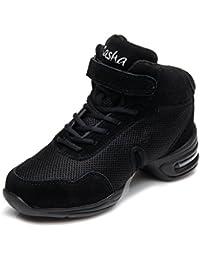 HIPPOSEUS Zapatos modernos de la danza del jazz/zapatillas de deporte/zapatos elegantes de la danza para las señoras de las mujeres,Modelo ESB60