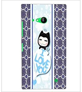 PrintDhaba Kitty D-2783 Back Case Cover for NOKIA LUMIA 730 (Multi-Coloured)