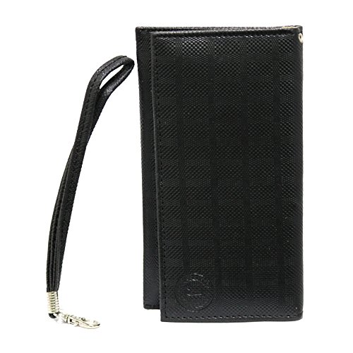 Jo Jo A5 D4 Leather Wallet Universal Pouch Cover Case For Micromax A52 Superfone Black  available at amazon for Rs.390