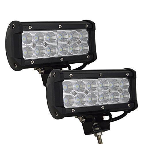 Auxtings LED Arbeitsscheinwerfer 7 inch(18 cm) 36W LED Zusatzscheinwerfer 3600LM Auto Scheinwerfer Offroad Flutlicht 6000K Wasserdicht IP67 Arbeitslicht 12V 24V (2 Stück) -