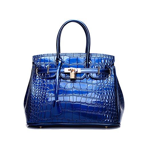 Tisdaini Damenhandtaschen Mode Kroko Schultertaschen PU Leder Shopper große Umhängetaschen