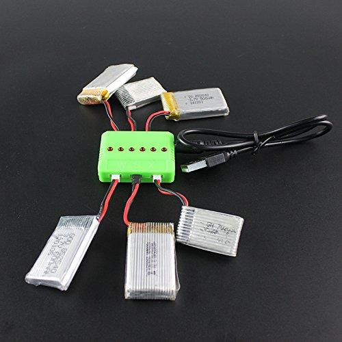 imusk dron batería USB cargador con 6Estación de carga para Hubsan/Syma/WLtoys/UDI/JXD/jjrc brummen