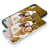 PixiPrints Personalisierte Premium Foto-Handyhülle für Huawei-Serie selbst gestalten mit Foto bedrucken, Hülle:Hardcase/Schwarz Matt, Handymodell:Huawei P20 Lite