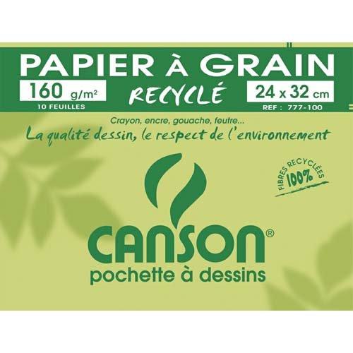 CANSON 200777100 Zeichenpapier Recycling, 160 g/qm weiß