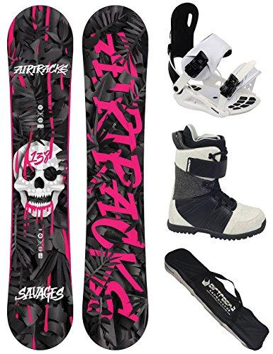 AIRTRACKS Damen Snowboard Set / Savage Lady Rocker 144 + Snowboard Bindung Star W + Snowboardboots Star W 39 + Sb Bag