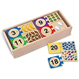Melissa & Doug Self-Correcting Number Puzzles (Developmental Toys, Wooden Storage Box, Matching & Counting Skill Development, 40 Pieces, 32.385 cm H x 14.605 cm W x 6.985 cm L)