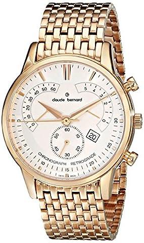 Claude Bernard Homme 0150637RM AIR Classique affichage analogique chronographe Swiss Quartz Rose Or Montre