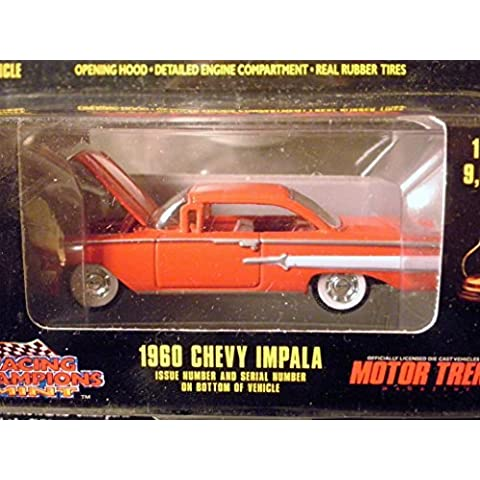 1960 Chevy Impala (red) Motor Trend Magazine Collectrors Box Limited Edition 1:64 scale die-cast by Racing Champions with openable hood and rubber tires by Mint Edition - Motor Trend Magazine