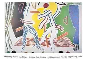 1983 David Hockney Two Dancers Poster