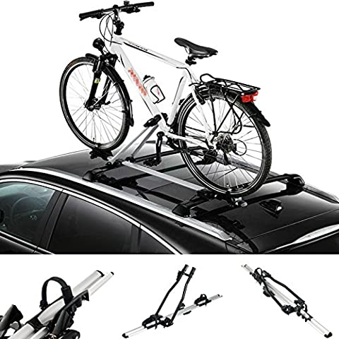 WOLTU® Porte-vélo de toit Support pour 1 vélo,1300 mm,Noir,FZ1120-a