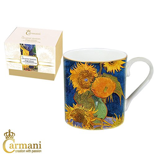 Carmani - tazza classico decorato con pittura van gogh 380 ml
