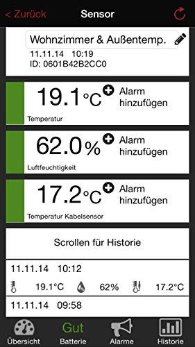 TFA Dostmann SmartHome Temperatur Monitor für Smartphones WeatherHub  31.4001.02 - 4