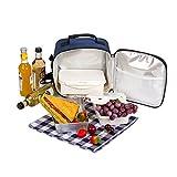 ALLCAMP Insulated Lunch Bag mit Lunchbox, Kühltasche für Büro, Schule, Picknick (blau)