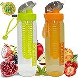 #8: Steelo Fruit Infuser Water Bottle - 750 Ml Set Of 2