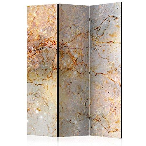 murando Raumteiler Abstrakt Foto Paravent 135x172 cm beidseitig auf Vlies-Leinwand Bedruckt Trennwand Spanische Wand Sichtschutz Raumtrenner beige Gold grau f-C-0142-z-b