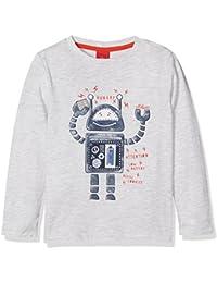 s.Oliver Baby-Jungen Spieler T-Shirt Langarm, Weiß (White Melange 90W0), 86