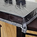 #10: Griiham 4 seater table cover Transparent 40 60 with Lace Border