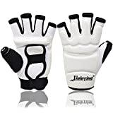 Xinluying Taekwondo MMA Boxing Gloves Martial Arts Karate Sparring Punching Bag Muay Thai Leather Gloves Mitts Kids Women Men White XXLarge - Xinluying - amazon.co.uk