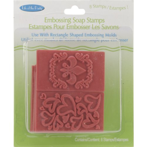Soap Embossing Stamp Assortment 8/Pkg-Rectangle by Unknown