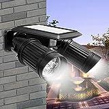 Solarleuchte mit Bewegungsmelder LED Solar Strahler Scheinwerfer 40LM Flutlicht Solar Spot IP44 Wasserdicht Outdoor Wandleuchte