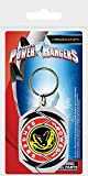 Pyramid International Power Rangers (T-Rex Leinwanddruck Badge) Schlüsselanhänger 4,5x 6cm, Gummi, Mehrfarbig, 4x 6x 1,3cm