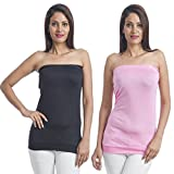 Teemoods Womens Viscose Long Sleeve Top (Tm-C-1465Blk&Pnk-L _Black N Pink _Large)