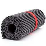 Mondaplen Gym Mat: tappetino di design per yoga, pilates, fitness e palestra. È reversibile, dotato di un lato piatto e uno ondulato e massaggiante. Larg. 60 cm, Lung. 172 cm, Alt. 1,5 cm, Diam. 21 cm.