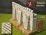 Burgmauer Falknersberg mit Stützpfeilern, Bausatz, Spur N