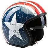 Viper RS-V06Casque de moto de type ouvert Easy Rider Motif États-Unis étoiles et rayures